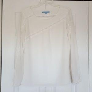 Antonio Melani cream colored top, size medium